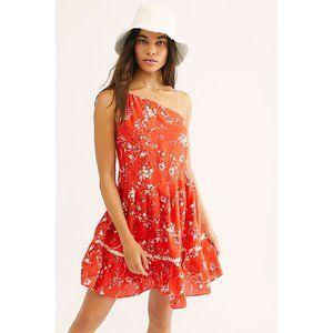 NEW Free People All Mine One Shoulder Mini Dress M